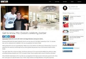 Whats on Dubai Feature of SKILLS Dubai Barbershop