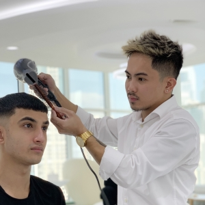 SKILLS Dubai Barbershop Barber Vince