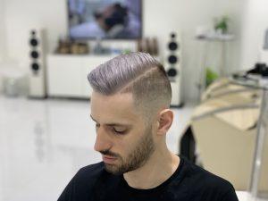 Ash Blonde/ Platinum Hair Color by SKILLS Dubai Barbershop