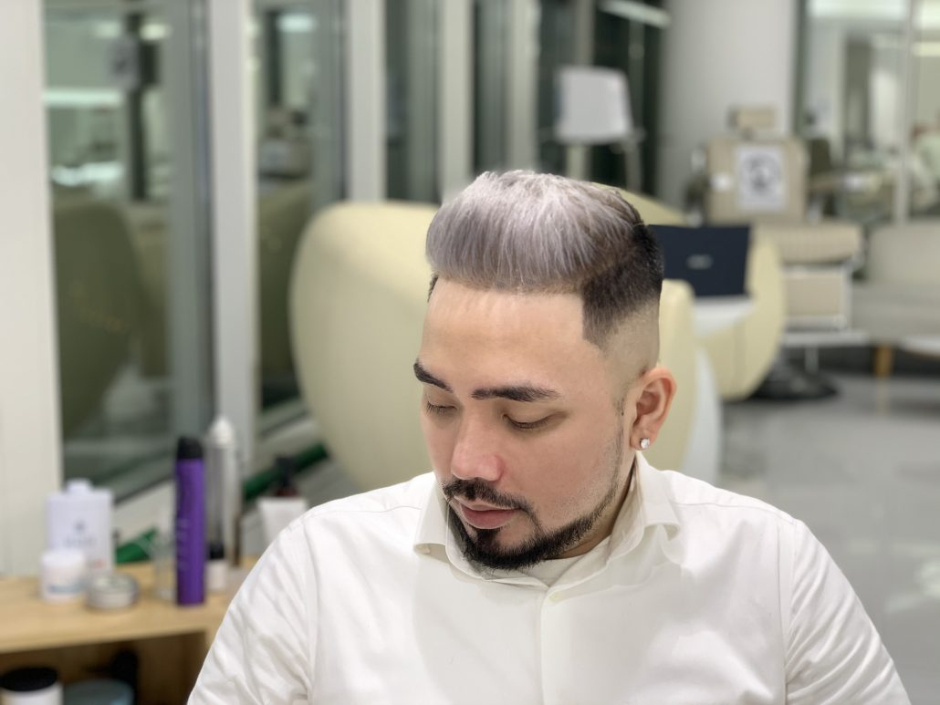 Ash Blonde Platinum Hair Color Highlights SKILLS Dubai Barbershop