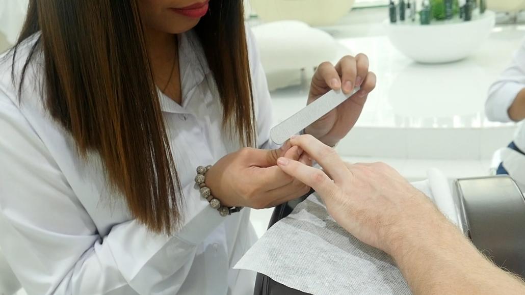 Nail Filing at SKILLS Dubai Barbershop