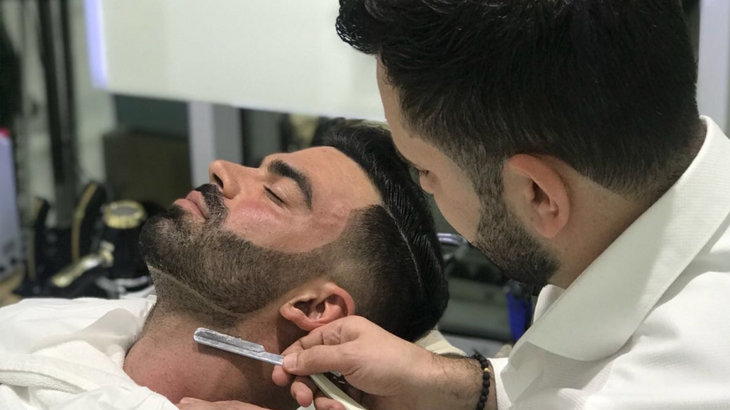 When you are shaving follow the direction of your hair growth