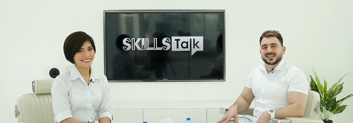 Senior Barber Mo and Nail Technician Dianne at SKILLS Talk