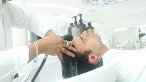 Hairwash at SKILLS Dubai Barbershop