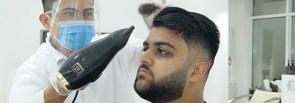 Proper Usage of Hairdryer at SKILLS Dubai Barbershop
